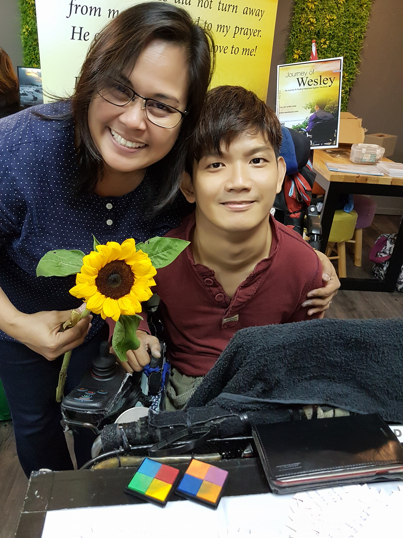 Cerebral Palsy Wesley Wee with Wife Singapore